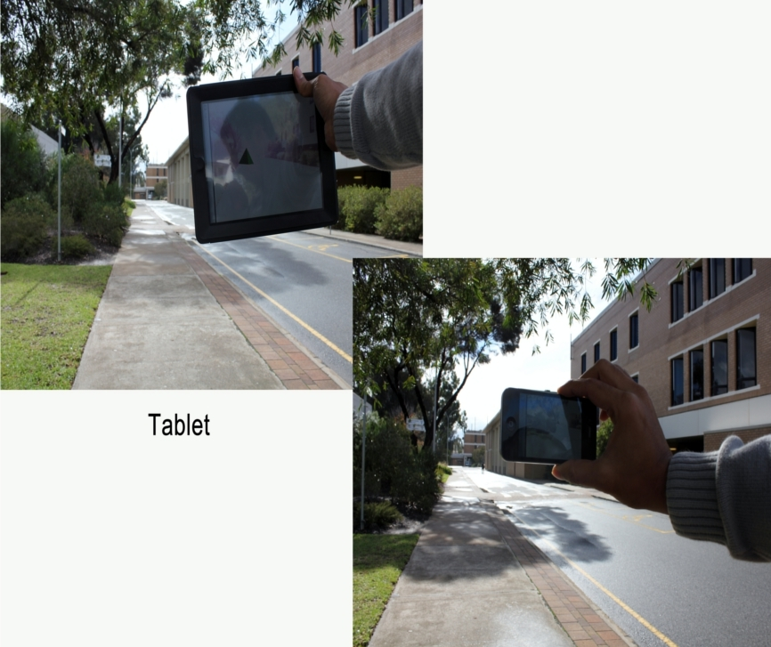Tablet versus Phone: Depth Perception in Handheld Augmented Reality